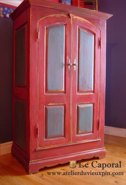 Rideaux Chambre Jeune Fille : armoir en pin massif peint pour chambre bebe fabricant de meuble peint