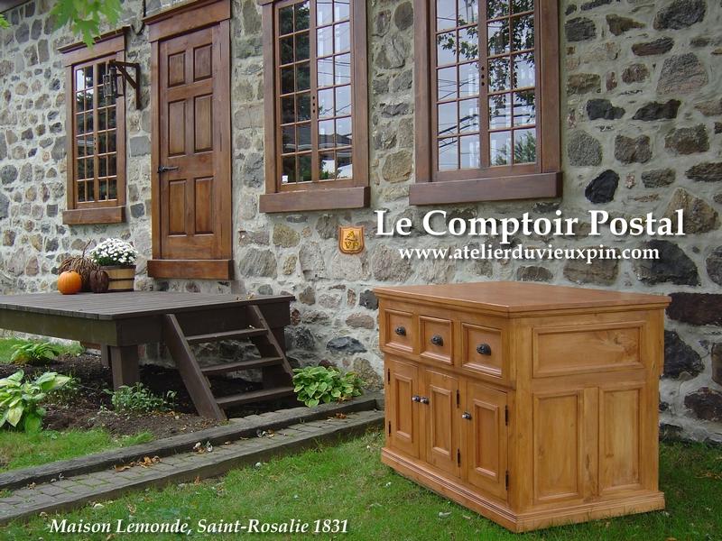 Les meubles ancien de l 39 atelier du vieux pin sont des reproductions de meubles anciens sur - Le comptoir de l ancienne ...